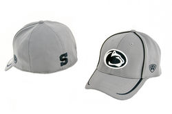 Penn State Performance Fitted Hat Gray With Navy Inserts