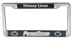 Penn State Plastic License Plate Frame Looks Like Metal