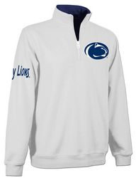 Penn State Quarter Zip Sweatshirt White Lion Head