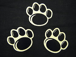 "Small New Paw Magnet Set - 3"" x 3"" Each"