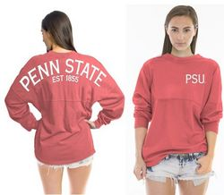 Penn State Spirit Football Shirt Coral Est 1855