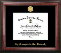 The Pennsylvania State University Gold Embossed Diploma Frame