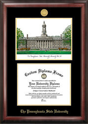 Penn State University Gold Embossed Diploma Frame With Lithograph