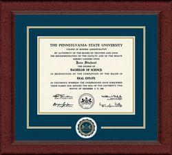 Penn State University, Lasting Memories Diploma Frame Sierra