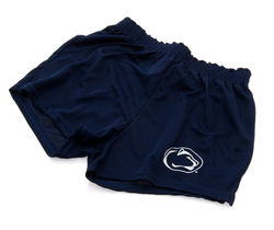 Penn State Womens Mesh Cheer Shorts Navy Lion Head