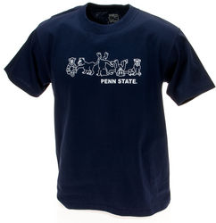 Penn State Youth T-Shirt Navy Tumbling Lions