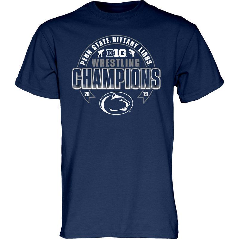 Blue 84 Penn State 2019 Big Ten Wrestling Champions T-Shirt Navy Nittany  Lions ( 6ec2f5026