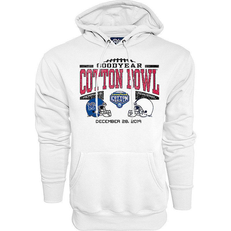 Blue 84 Penn State Nittany Lions 2019 Cotton Bowl Dual Helmet Hooded Sweatshirt White Nittany Lions (PSU) (Blue 84)