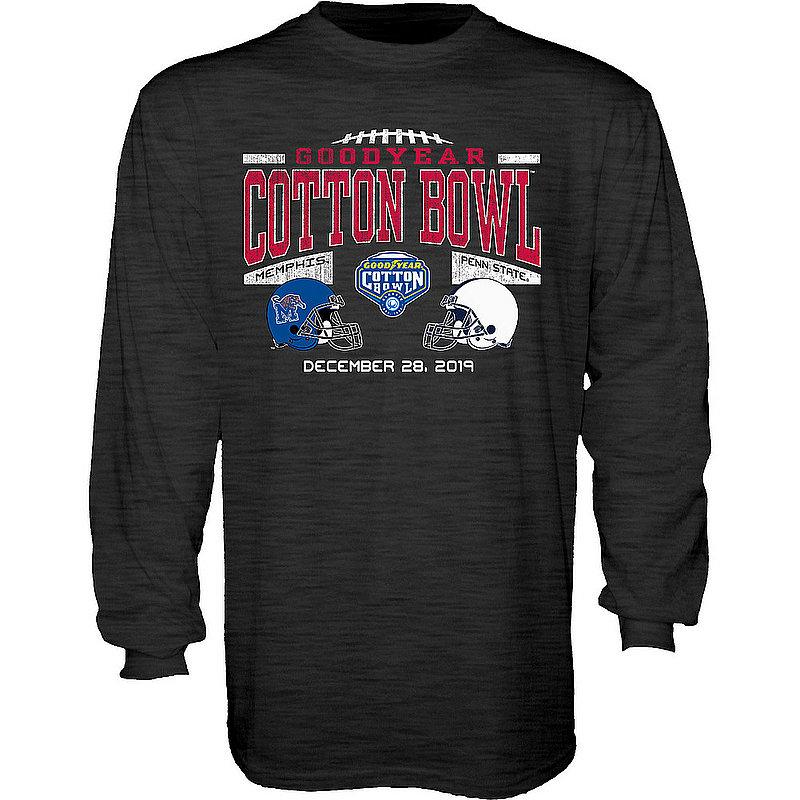 Blue 84 Penn State Nittany Lions 2019 Cotton Bowl Dual Helmet Long Sleeve Dark Heather Nittany Lions (PSU) (Blue 84)