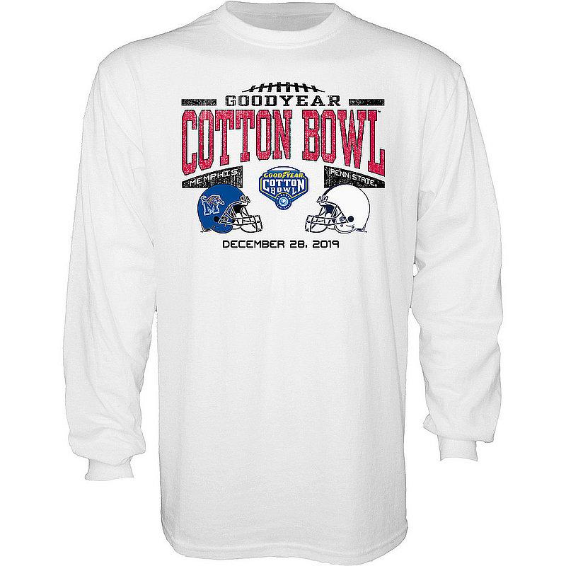 Blue 84 Penn State Nittany Lions 2019 Cotton Bowl Dual Helmet Long Sleeve White Nittany Lions (PSU) (Blue 84)