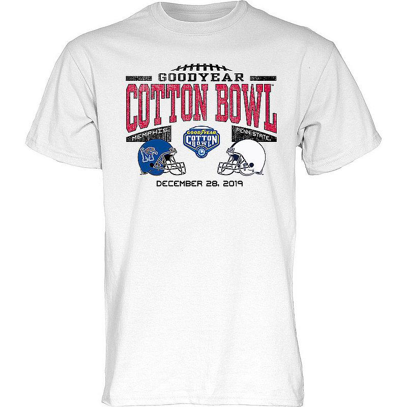 Blue 84 Penn State Nittany Lions 2019 Cotton Bowl Dual Helmet T-Shirt White Nittany Lions (PSU) (Blue 84)
