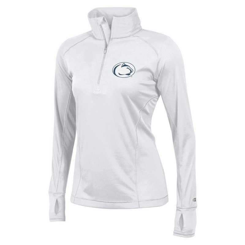 Champion Penn State Women's Performance Quarter Zip Shirt White Nittany Lions (PSU) (Champion)