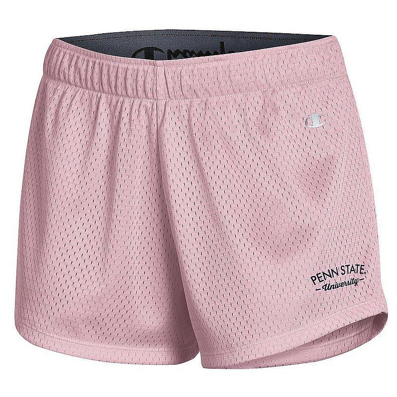 Champion Penn State Women's Pink Champion Mesh Shorts Nittany Lions (PSU) (Champion)