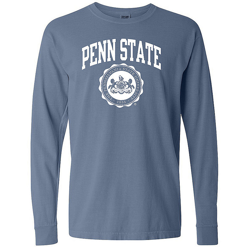 Comfort Colors Penn State Official Seal Blue Jean Comfort Colors Long Sleeve Nittany Lions (PSU) (Comfort Colors)