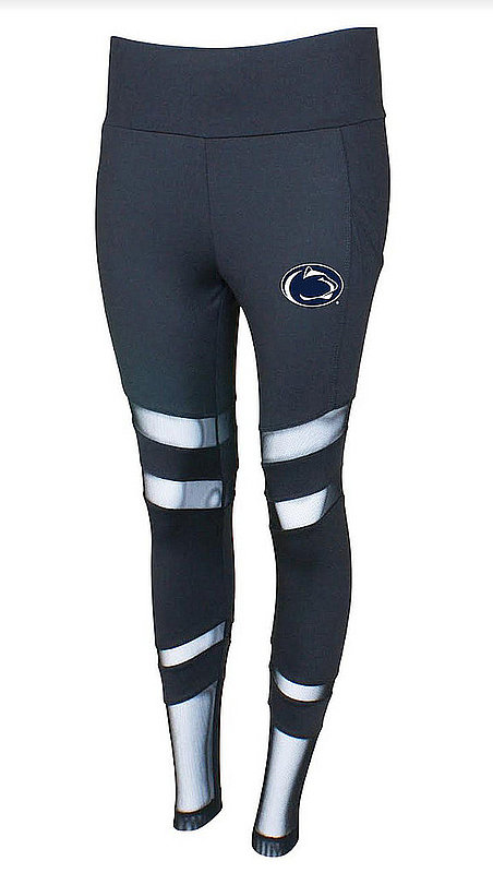 Concept Sports Penn State Mesh Insert Leggings Charcoal Nittany Lions (PSU) (Concept Sports)