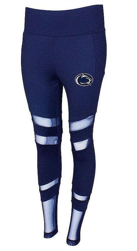 Concept Sports Penn State Mesh Insert Leggings Navy Nittany Lions (PSU) (Concept Sports)