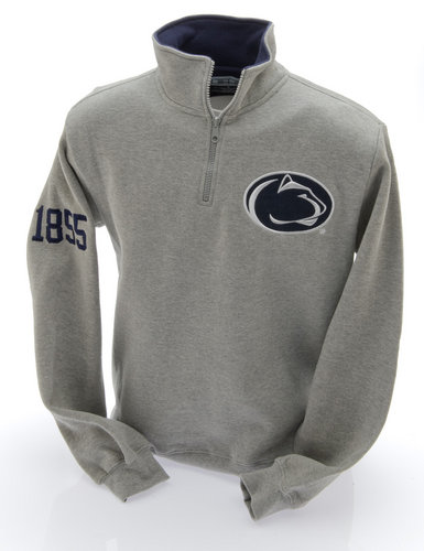 E5 Penn State Nittany Lions Embroidered Quarter Zip Sweatshirt Gray Nittany Lions (PSU) (E5)