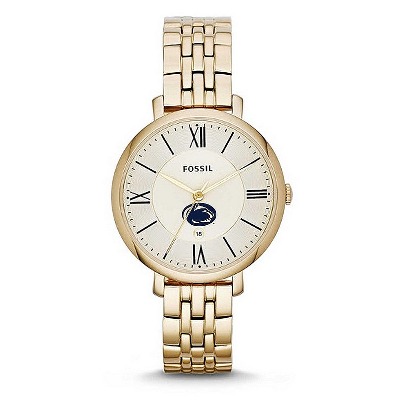 FOSSIL Penn State Ladies Gold Jacqueline Stainless Steel Watch Nittany Lions (PSU) (FOSSIL)