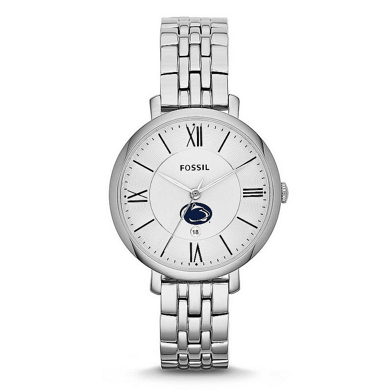 FOSSIL Penn State Ladies Silver Jacqueline Stainless Steel Watch Nittany Lions (PSU) (FOSSIL)