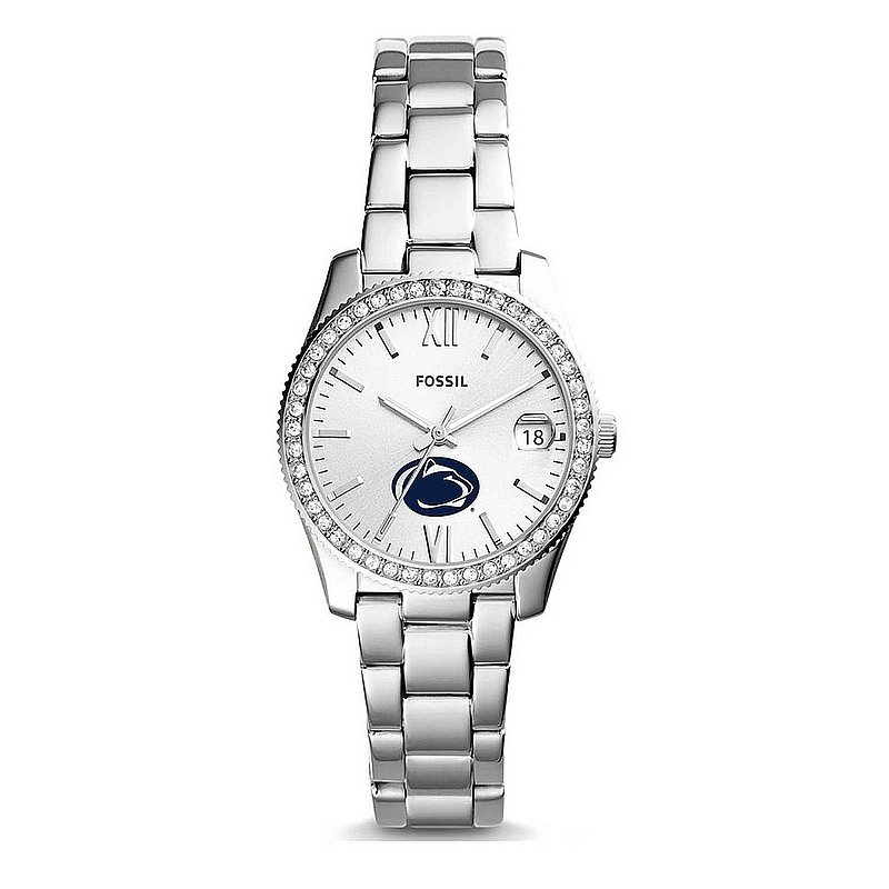 FOSSIL Penn State Ladies Silver Scarlette Mini Stainless Steel Watch Nittany Lions (PSU) (FOSSIL)
