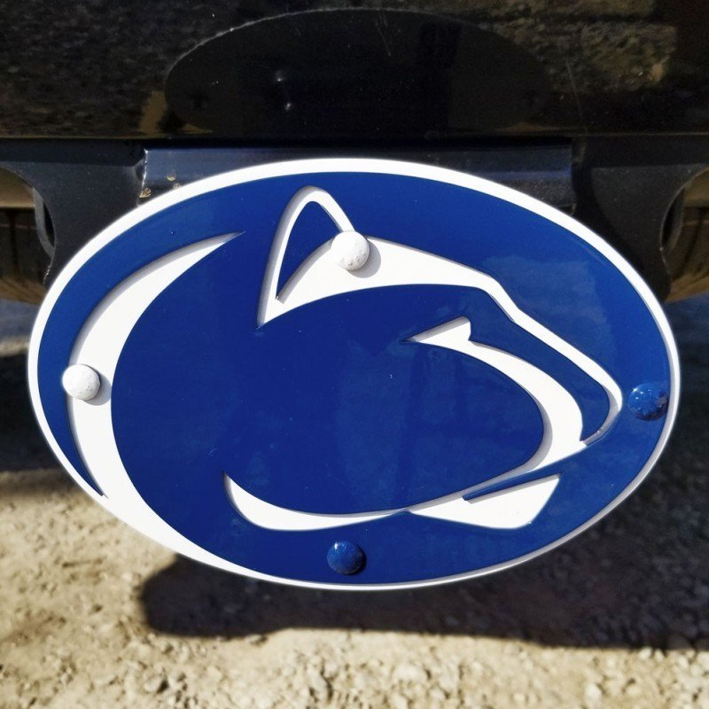 Gameday Ironworks Penn State Lion Head Heavy Duty Iron Hitch Cover Nittany Lions (PSU) (Gameday Ironworks)