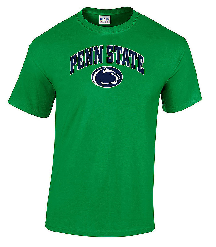 """Green T-shirt with """"Penn State"""" Arching Over Lion Head Nittany Lions (PSU)"""