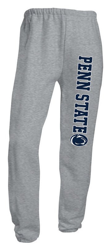 Jerzees Penn State Closed Bottom Sweatpants Grey Nittany Lions (PSU) (Jerzees)