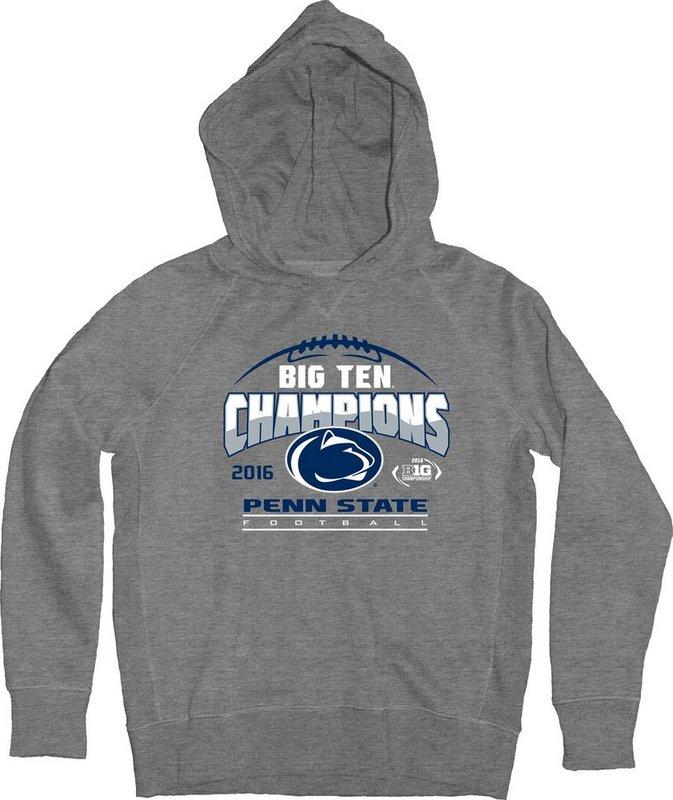 Locker Room Penn State Football Big Ten Champs Youth Hooded Sweatshirt Gray 2016 Nittany Lions (PSU) 000000000PGFR (Locker Room)