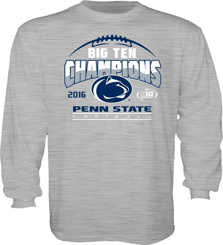 Locker Room Penn State Football Big Ten Champs Youth Long Sleeve Tshirt Gray 2016 Nittany Lions (PSU) 000000000PGFR (Locker Room)