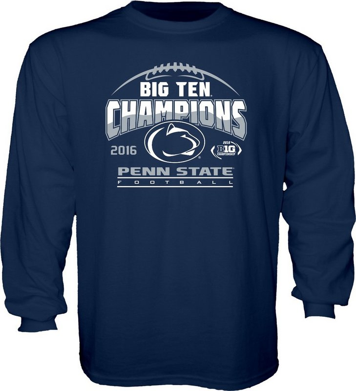 Locker Room Penn State Football Big Ten Champs Youth Long Sleeve Tshirt Navy 2016 Nittany Lions (PSU) 000000000PGFR (Locker Room)