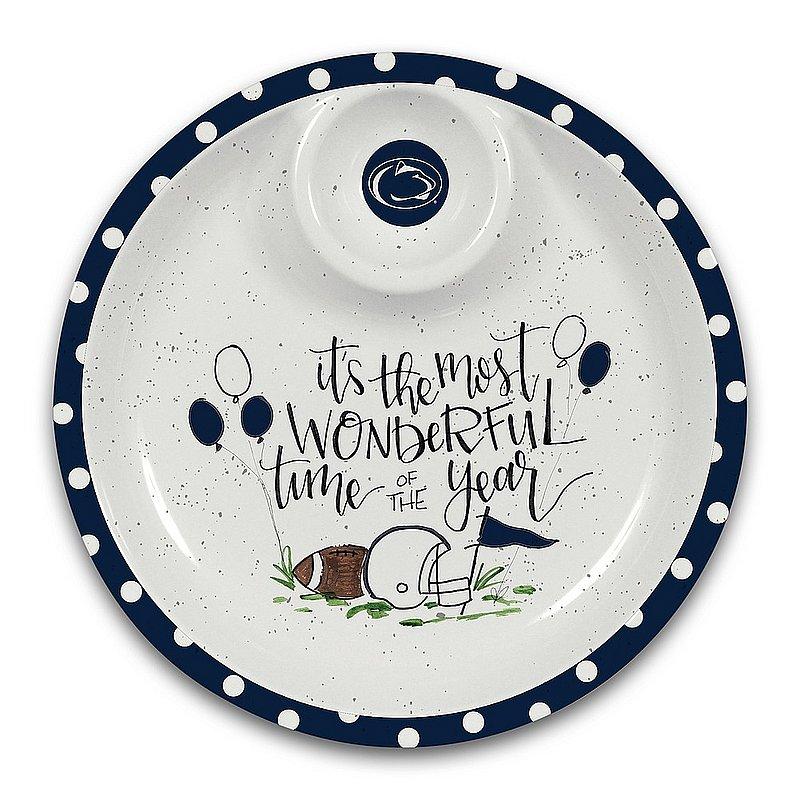 Magnolia Lane Penn State Nittany Lions Chips & Dip Plate Nittany Lions (PSU) (Magnolia Lane )