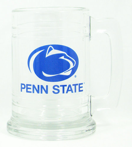Penn State 15 oz Glass Mug Varsity Logo Nittany Lions (PSU) 3331-CL