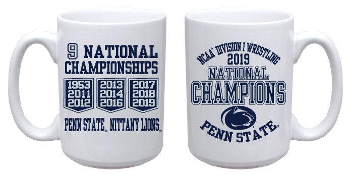 Penn State 2019 National Wrestling Champs Mug Nittany Lions (PSU)