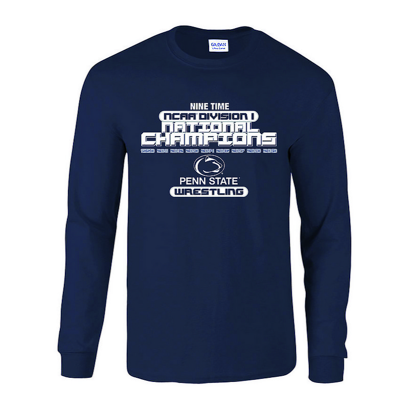 71a28997 Penn State 2019 Wrestling NCAA National Champions Legacy Long Sleeve  Nittany Lions (PSU)