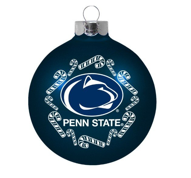 Penn State 2 5/8 Glass Holiday Ornament Nittany Lions (PSU)