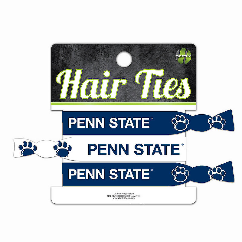 Penn State 3 Pack Hair Ties