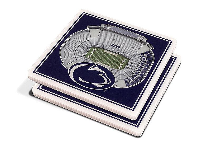 Penn State 3D StadiumView 2 Pack Drink Coasters