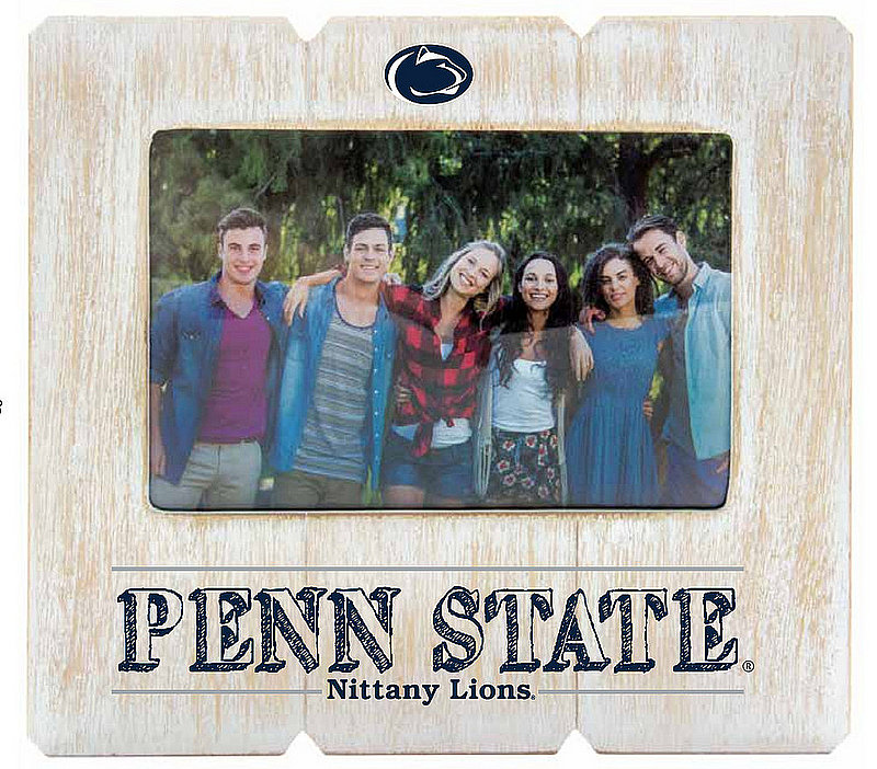 Penn State 4 x 6 Distressed Wood Frame Nittany Lions (PSU)