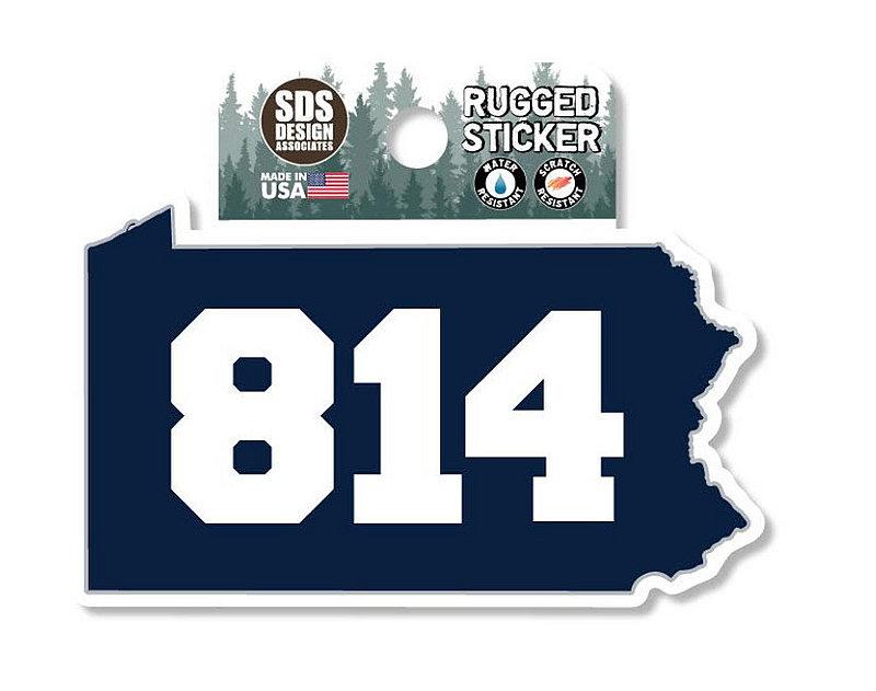 Penn State 814 PA Rugged Sticker Nittany Lions (PSU)