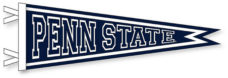 Penn State 9 x 27 Dovetail Pennant Nittany Lions (PSU)