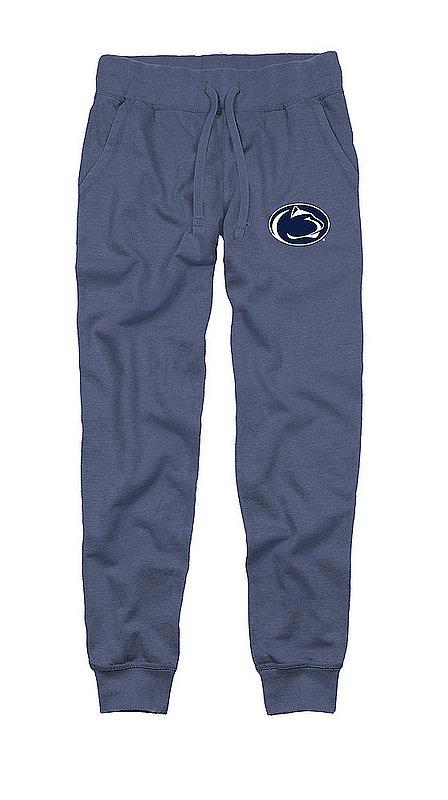 Penn State Adult Burnout Fleece Jogger Pant Heather Denim Nittany Lions (PSU)