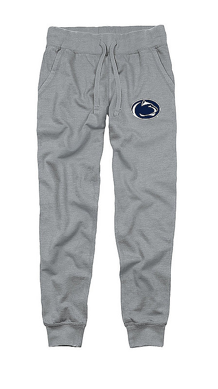 Penn State Adult Burnout Fleece Jogger Pant Heather Grey Nittany Lions (PSU)