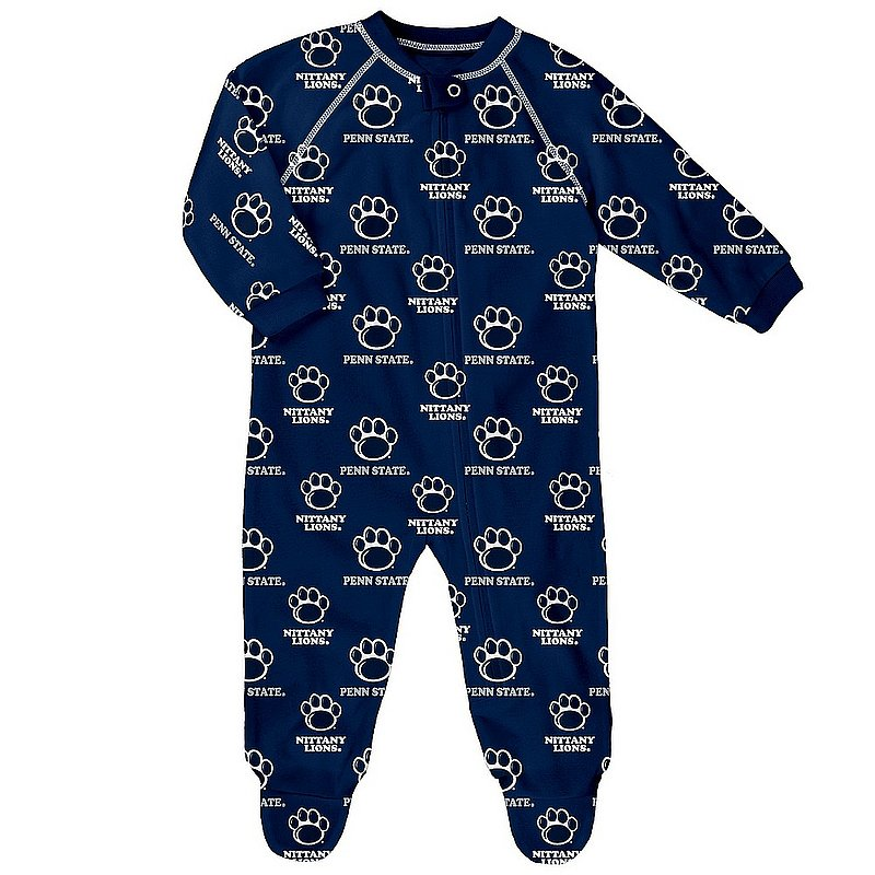 Penn State All Over Infant Footed Pajamas Nittany Lions (PSU)