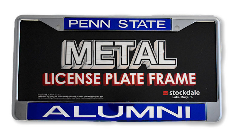 Penn State Alumni Inlaid Metal License Plate Royal Blue Nittany Lions (PSU)