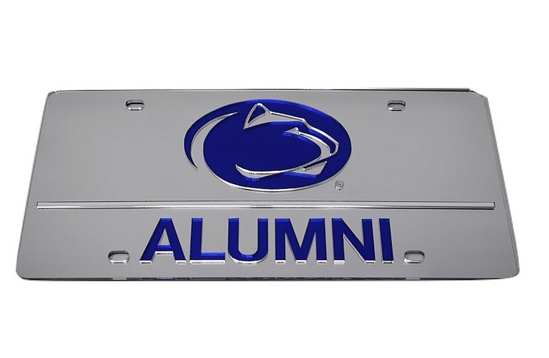 Penn State Alumni Premium Acrylic Mirrored License Plate Nittany Lions (PSU)