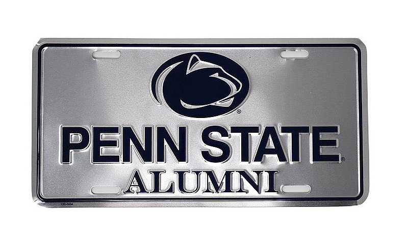 Penn State Alumni Silver Metal License Plate Nittany Lions (PSU)