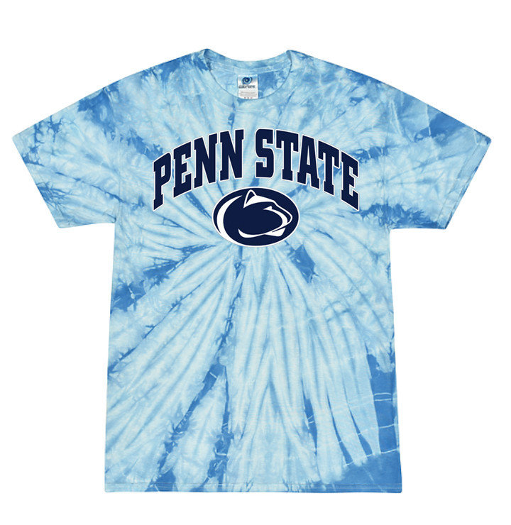 Penn State Baby Blue Spider Tie Dye Tee Nittany Lions (PSU)
