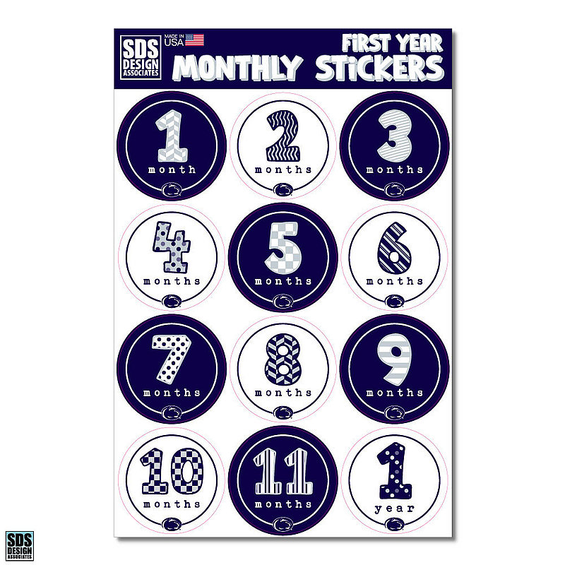 Penn State Baby Monthly Milestone Stickers Nittany Lions (PSU)