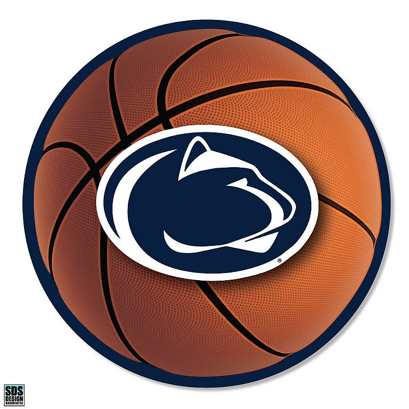 """Penn State Basketball with Lion Head 6"""" Magnet Nittany Lions (PSU)"""