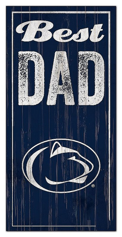 Penn State Best Dad Distressed Wood Sign Nittany Lions (PSU)